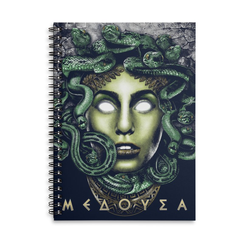 Medusa Accessories Lined Spiral Notebook by Anthony Petrie Print + Product Design