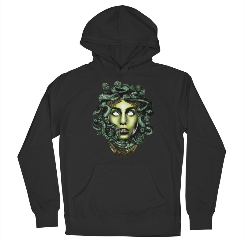Medusa Men's French Terry Pullover Hoody by Anthony Petrie Print + Product Design