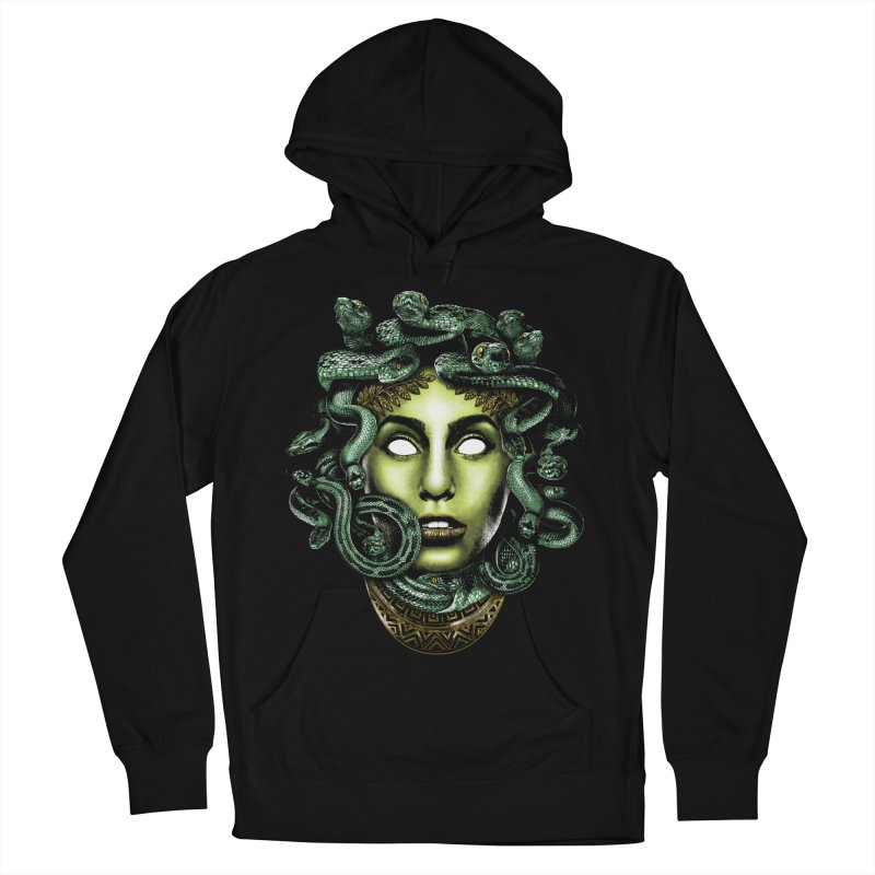 Medusa Women's French Terry Pullover Hoody by Anthony Petrie Print + Product Design
