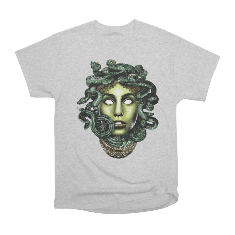 Medusa Men's Heavyweight T-Shirt by Anthony Petrie Print + Product Design