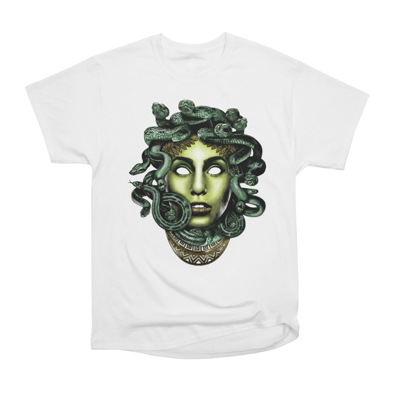Medusa Women's Heavyweight Unisex T-Shirt by Anthony Petrie Print + Product Design