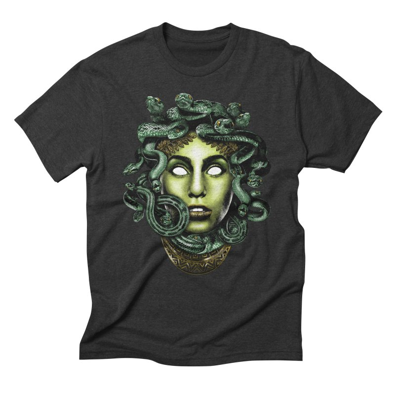 Medusa Men's Triblend T-Shirt by Anthony Petrie Print + Product Design