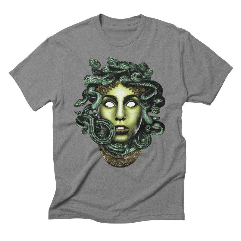 Medusa Men's Triblend T-Shirt by Anthony Petrie Print + Product Design