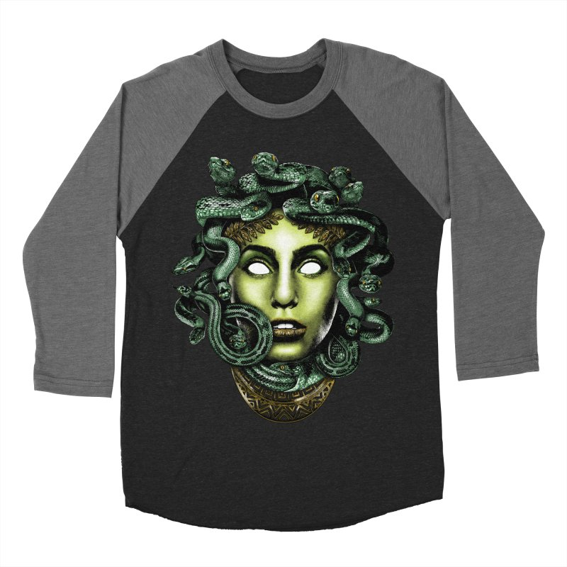 Medusa Women's Baseball Triblend Longsleeve T-Shirt by Anthony Petrie Print + Product Design