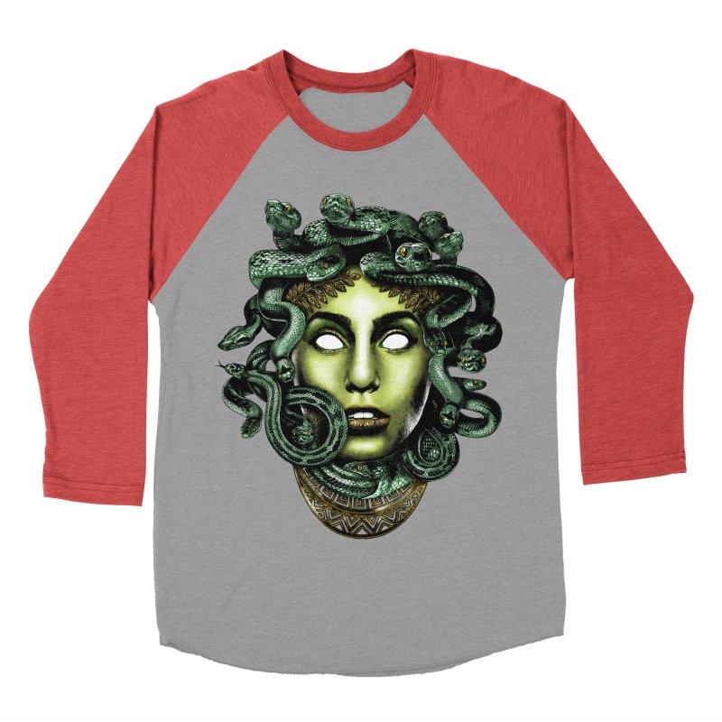Medusa Men's Baseball Triblend Longsleeve T-Shirt by Anthony Petrie Print + Product Design