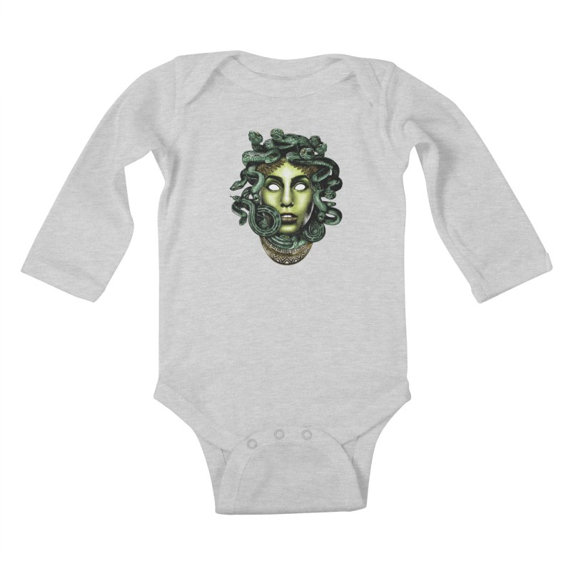 Medusa Kids Baby Longsleeve Bodysuit by Anthony Petrie Print + Product Design