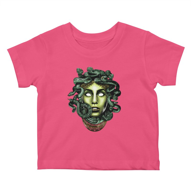 Medusa Kids Baby T-Shirt by Anthony Petrie Print + Product Design