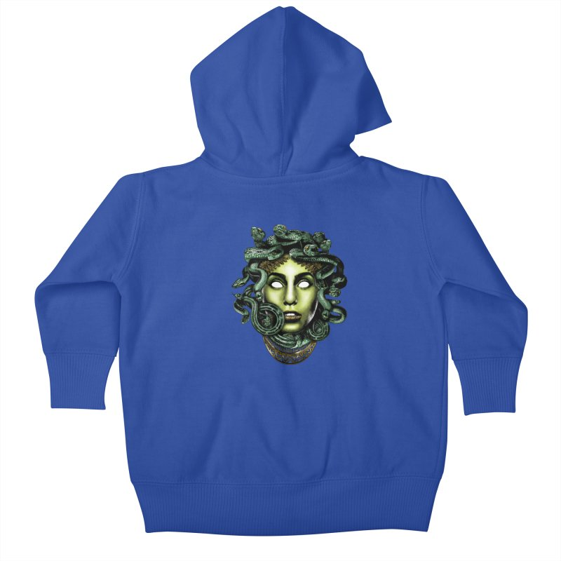 Medusa Kids Baby Zip-Up Hoody by Anthony Petrie Print + Product Design