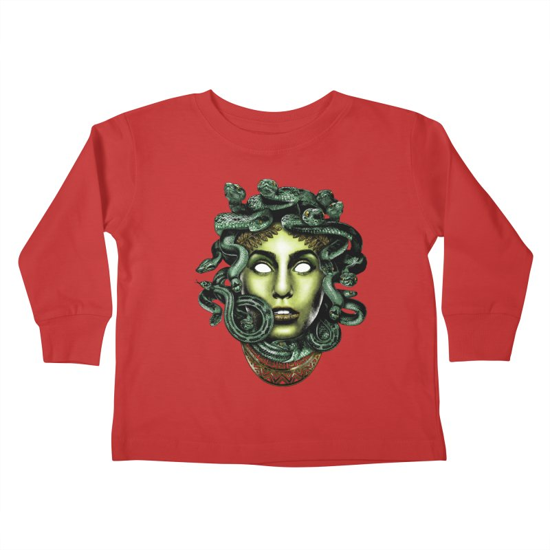 Medusa Kids Toddler Longsleeve T-Shirt by Anthony Petrie Print + Product Design
