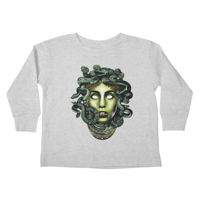 Medusa Kids Toddler Longsleeve T-Shirt by Anthony Petrie Print + Product Design