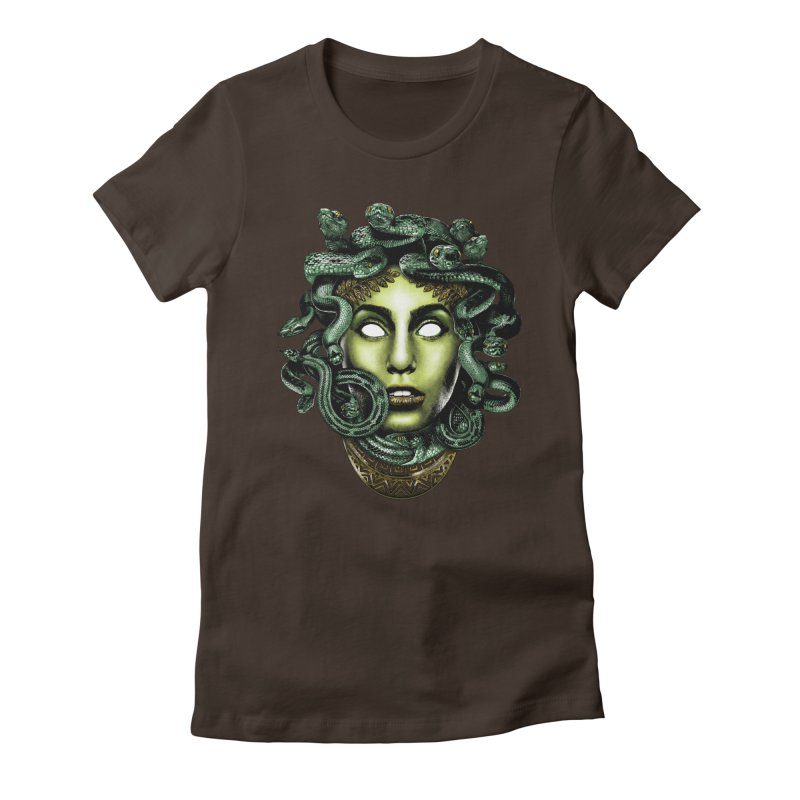 Medusa Women's Fitted T-Shirt by Anthony Petrie Print + Product Design