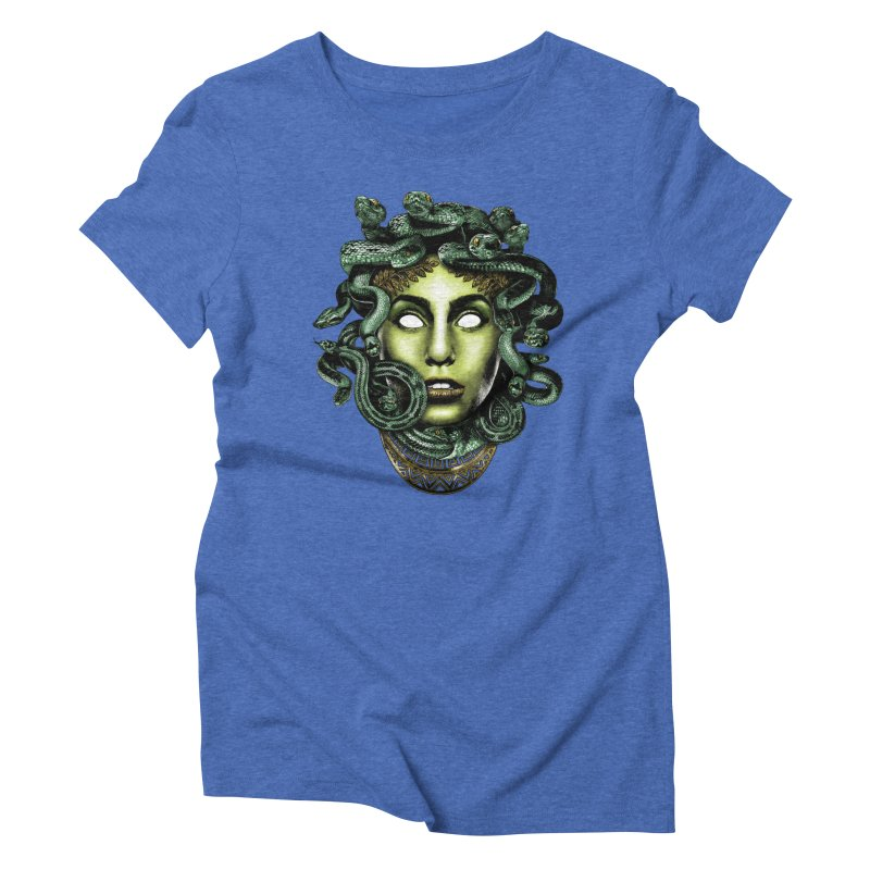 Medusa Women's Triblend T-Shirt by Anthony Petrie Print + Product Design