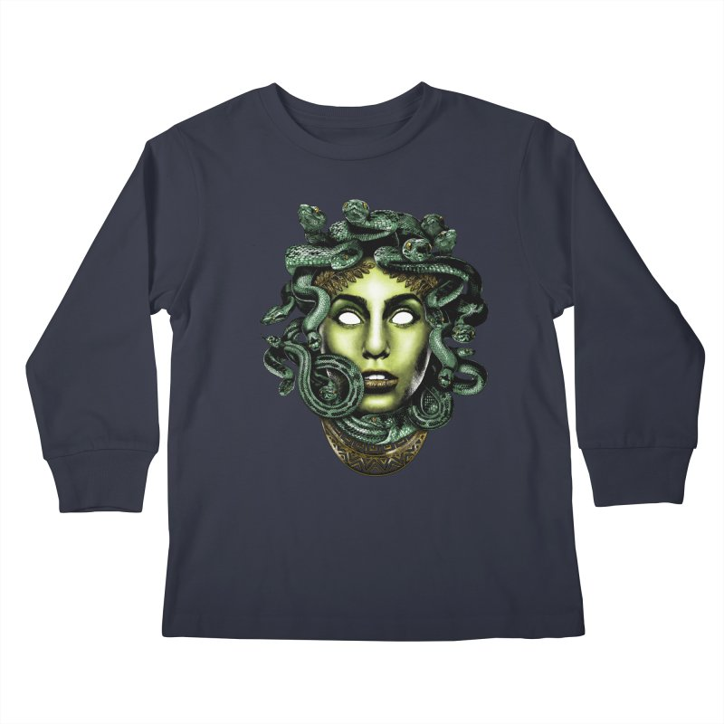 Medusa Kids Longsleeve T-Shirt by Anthony Petrie Print + Product Design