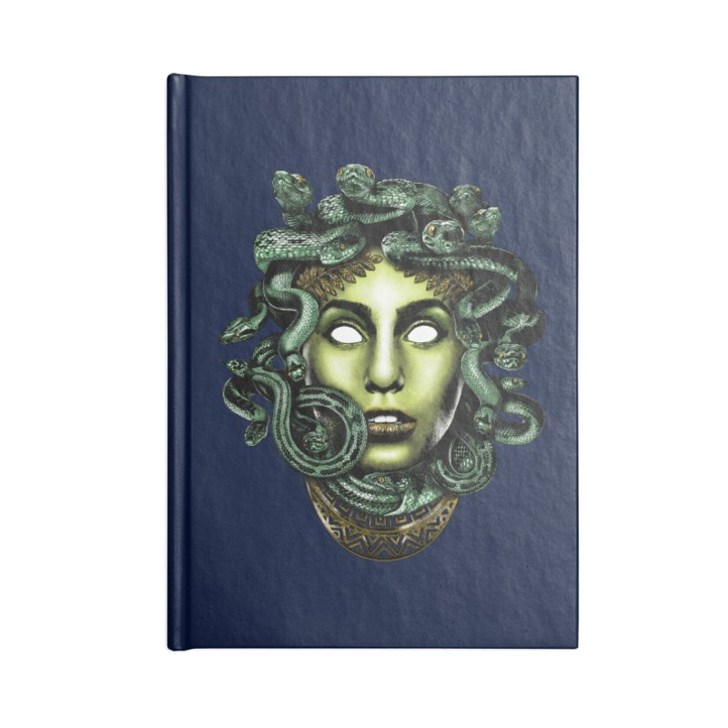 Medusa Accessories Lined Journal Notebook by Anthony Petrie Print + Product Design