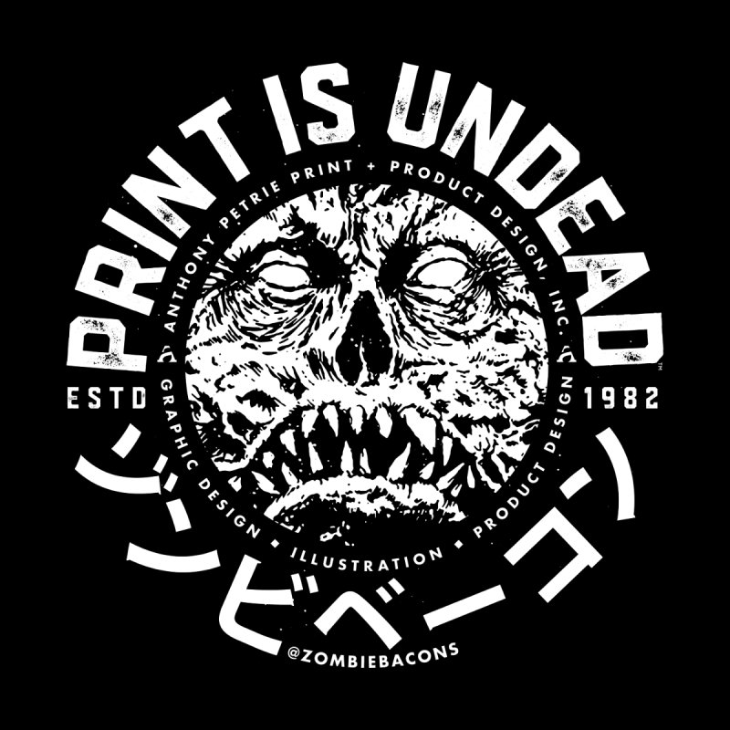 PRINT IS UNDEAD, INC. Men's T-Shirt by Anthony Petrie Print + Product Design