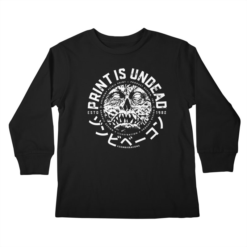 PRINT IS UNDEAD, INC. Kids Longsleeve T-Shirt by Anthony Petrie Print + Product Design