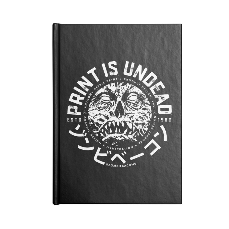 PRINT IS UNDEAD, INC. Accessories Lined Journal Notebook by Anthony Petrie Print + Product Design