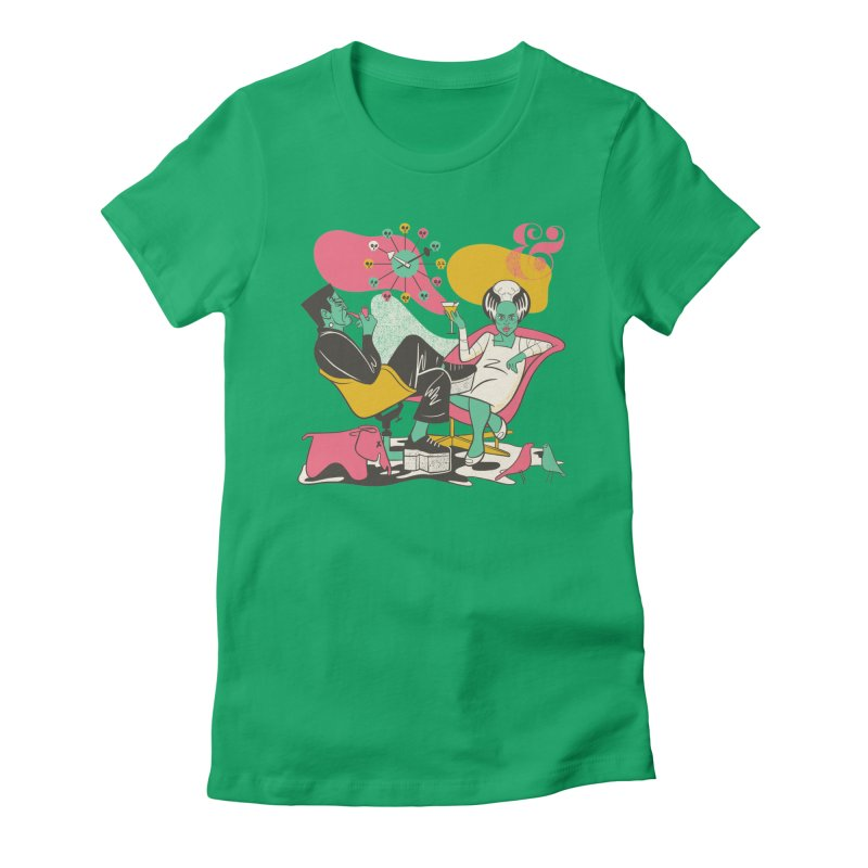 Modsters Women's Fitted T-Shirt by Anthony Petrie Print + Product Design