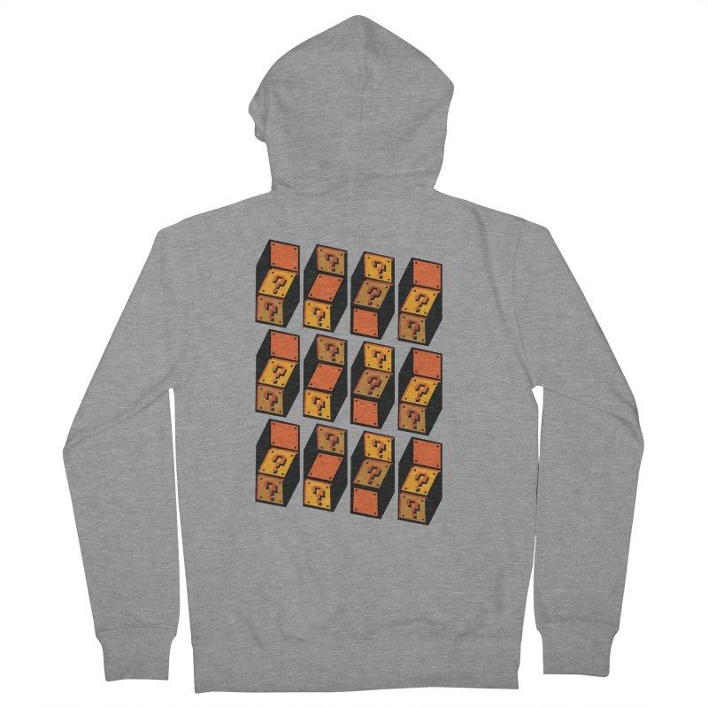 Optibox Men's Zip-Up Hoody by zombiemedia's Artist Shop