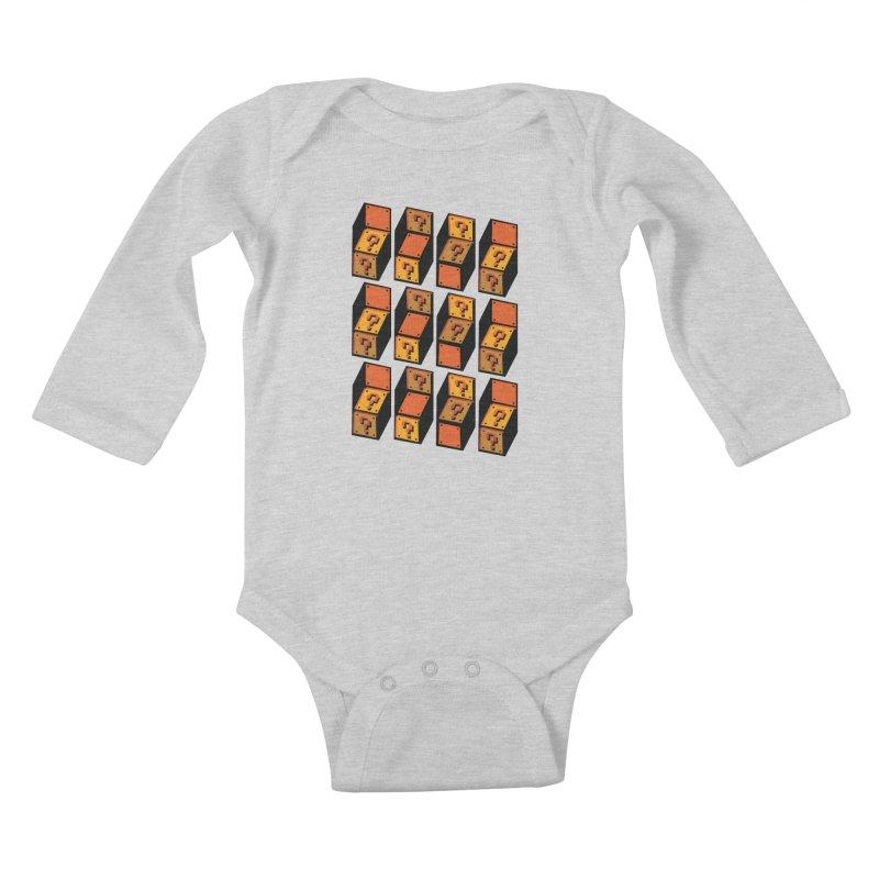 Optibox Kids Baby Longsleeve Bodysuit by zombiemedia's Artist Shop