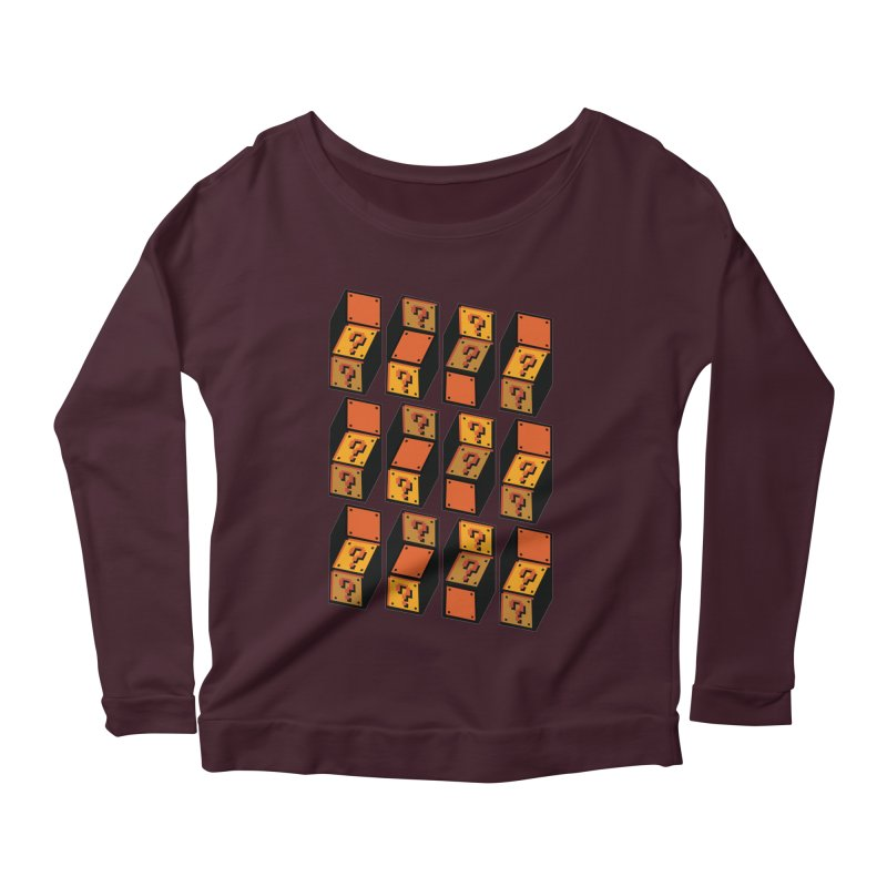 Optibox Women's Longsleeve Scoopneck  by zombiemedia's Artist Shop