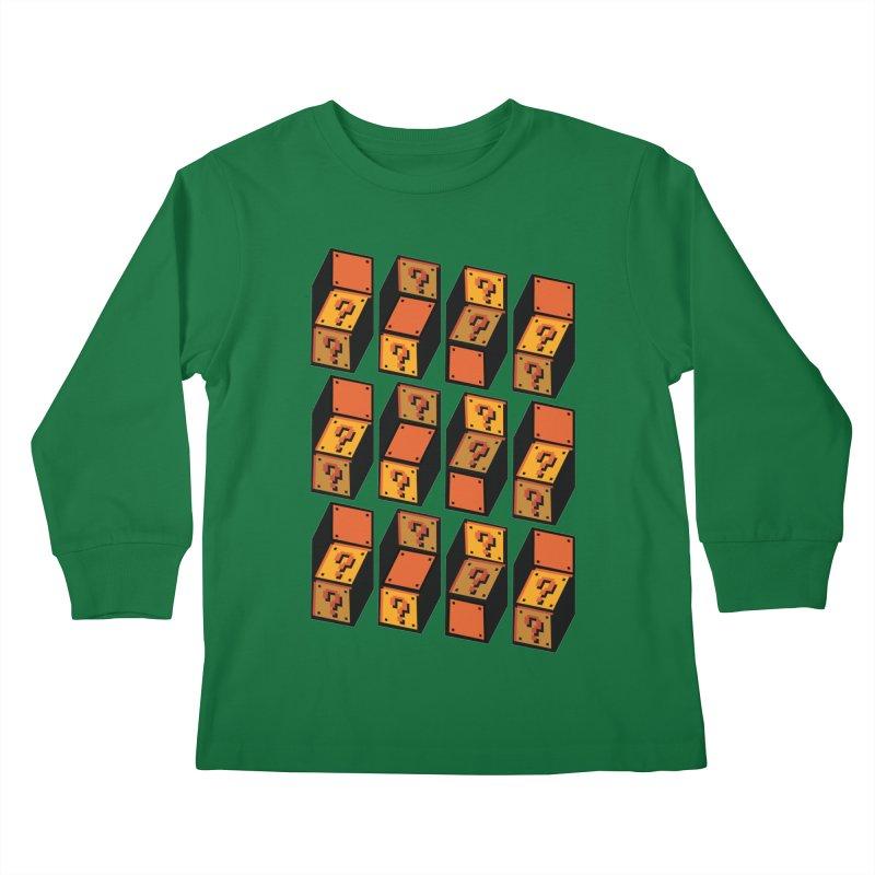 Optibox Kids Longsleeve T-Shirt by zombiemedia's Artist Shop