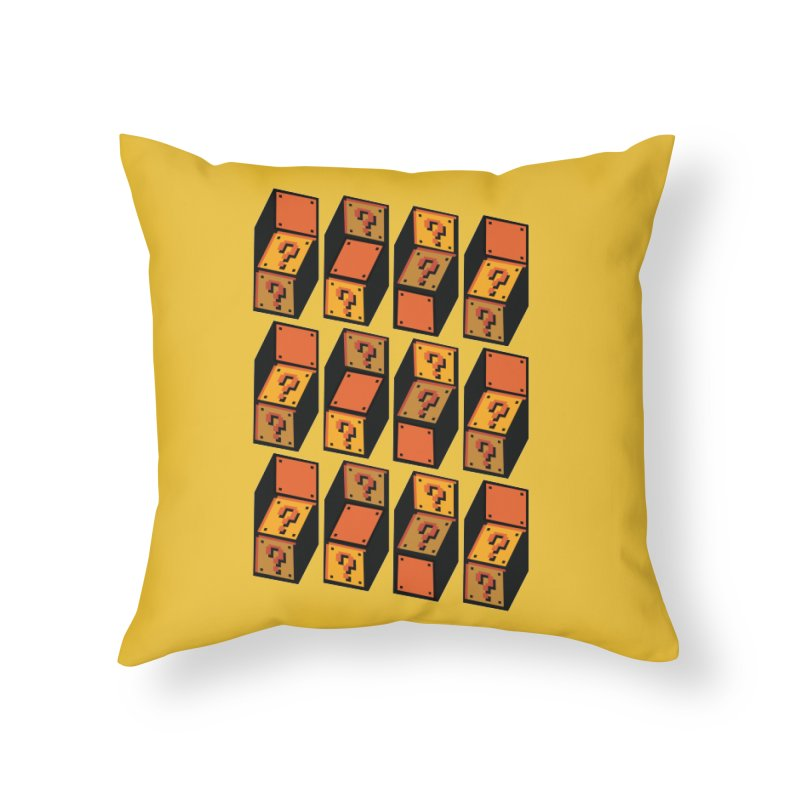 Optibox Home Throw Pillow by zombiemedia's Artist Shop