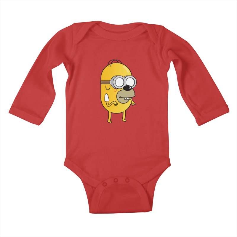 Hybrid Kids Baby Longsleeve Bodysuit by Numb Skull