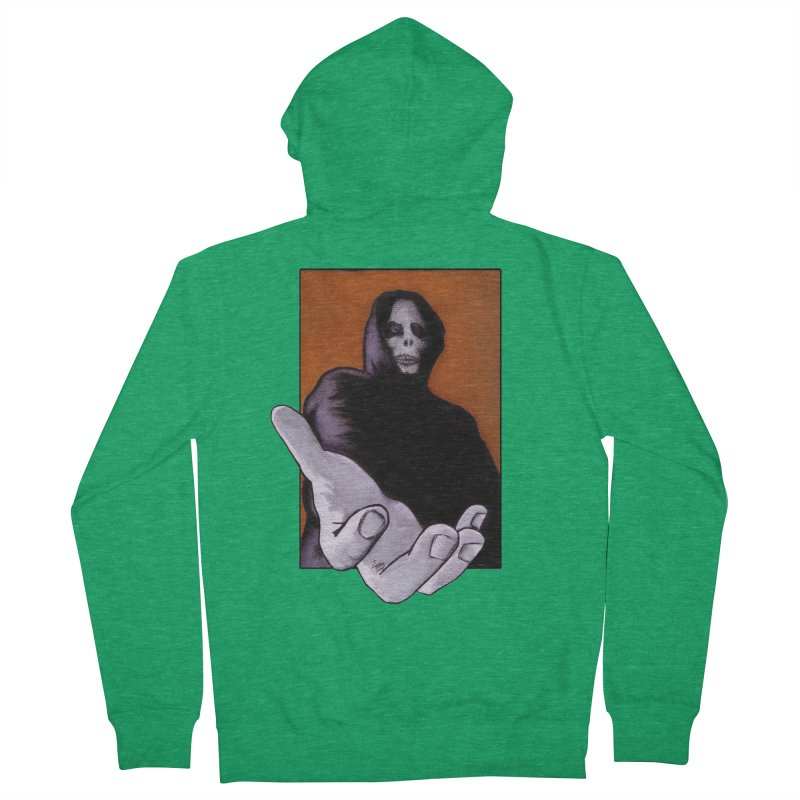 Death Goes In Fear Of What It Cannot Be Women's Zip-Up Hoody by Zombie Rust's Artist Shop