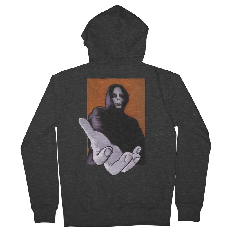 Death Goes In Fear Of What It Cannot Be Men's Zip-Up Hoody by Zombie Rust's Artist Shop