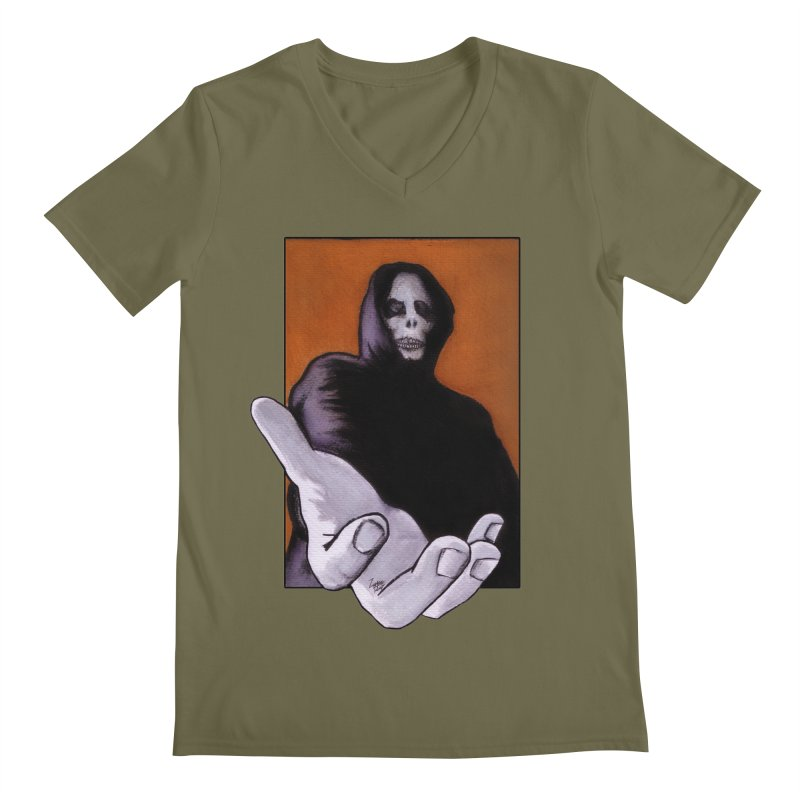 Death Goes In Fear Of What It Cannot Be Men's V-Neck by Zombie Rust's Artist Shop