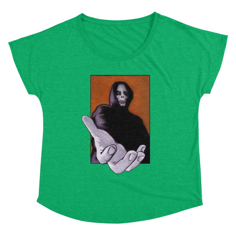 Death Goes In Fear Of What It Cannot Be Women's Scoop Neck by Zombie Rust's Artist Shop