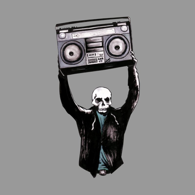 Boombox Women's Longsleeve T-Shirt by Zombie Rust's Artist Shop