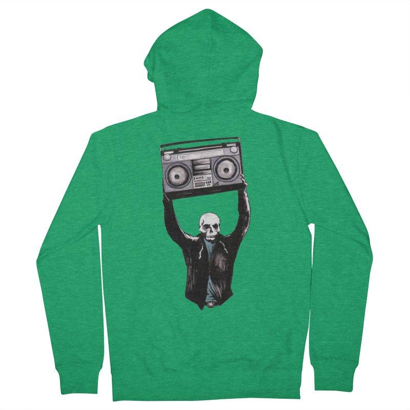 Boombox Men's Zip-Up Hoody by Zombie Rust's Artist Shop