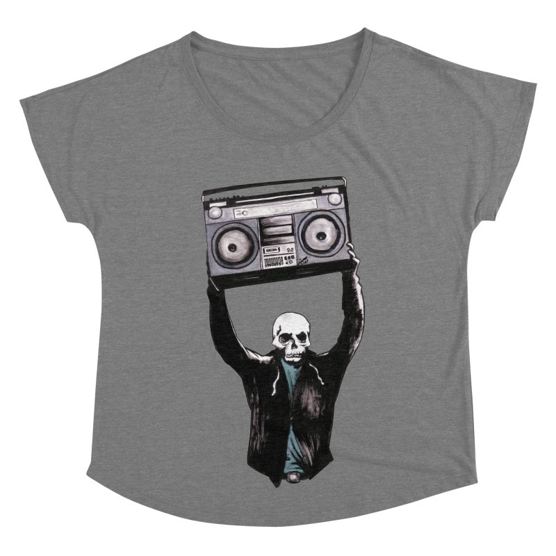 Boombox Women's Scoop Neck by Zombie Rust's Artist Shop