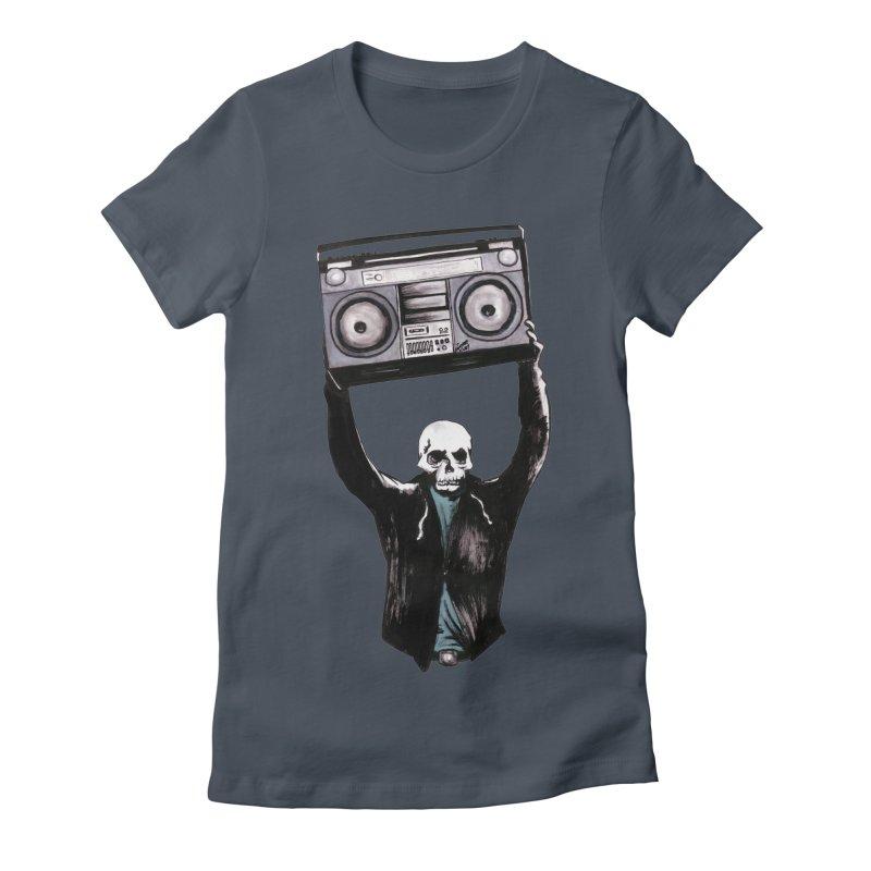Boombox Women's T-Shirt by Zombie Rust's Artist Shop