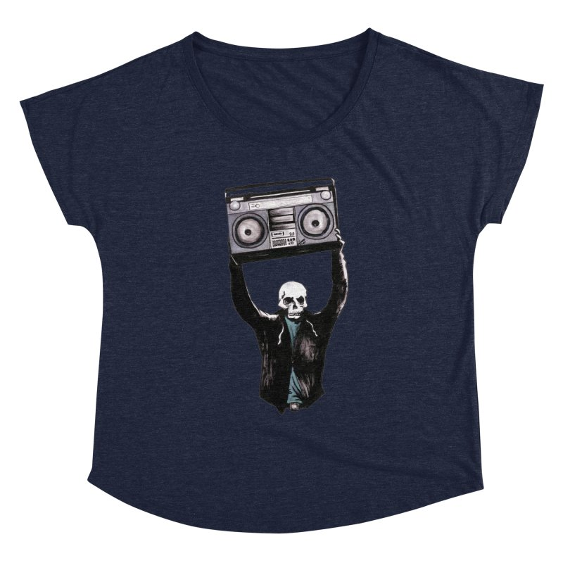 Boombox Women's Scoop Neck by Zombie Rust's Artist Shop