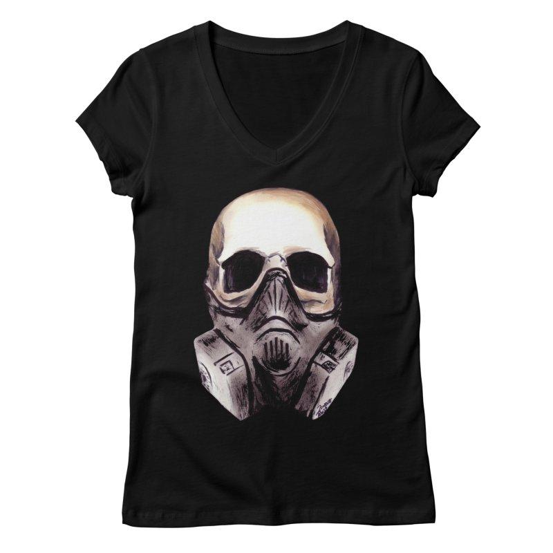 Apocalypse Women's V-Neck by Zombie Rust's Artist Shop