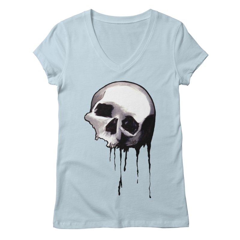Bones VIII Women's V-Neck by Zombie Rust's Artist Shop