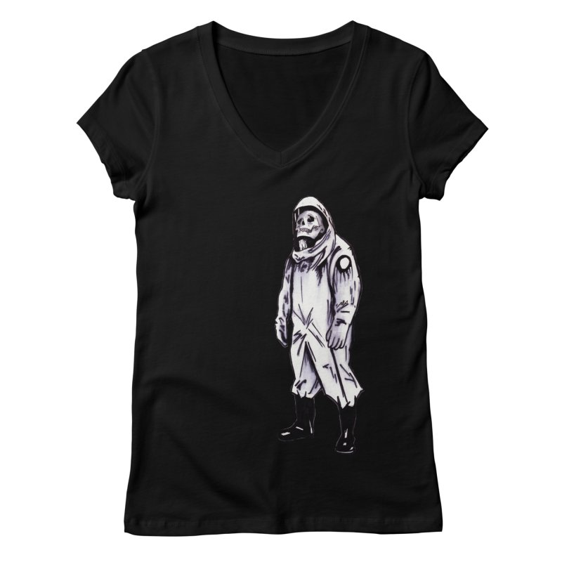Contamination Women's V-Neck by Zombie Rust's Artist Shop