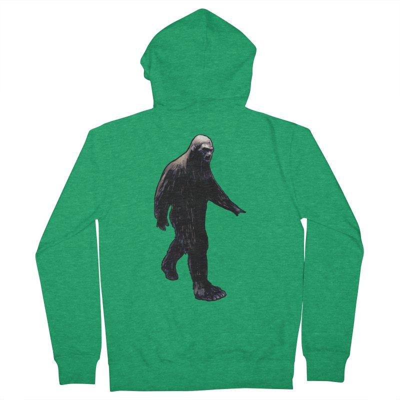 Bigfoot Women's Zip-Up Hoody by Zombie Rust's Artist Shop