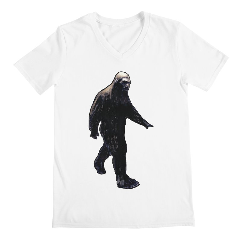 Bigfoot Men's V-Neck by Zombie Rust's Artist Shop