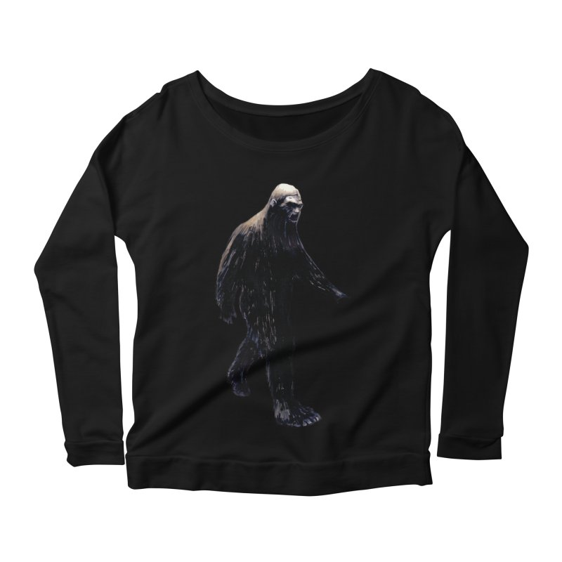 Bigfoot Women's Longsleeve T-Shirt by Zombie Rust's Artist Shop