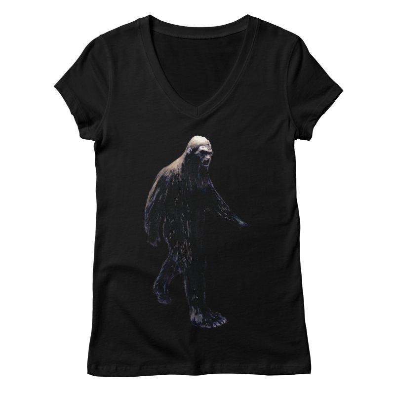 Bigfoot Women's V-Neck by Zombie Rust's Artist Shop