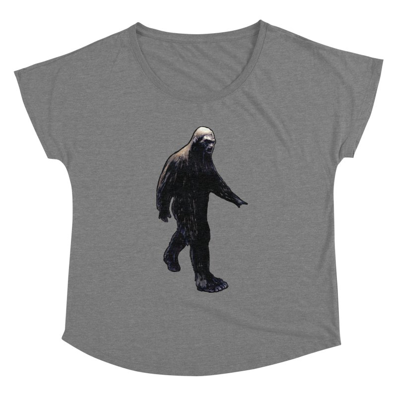 Bigfoot Women's Scoop Neck by Zombie Rust's Artist Shop