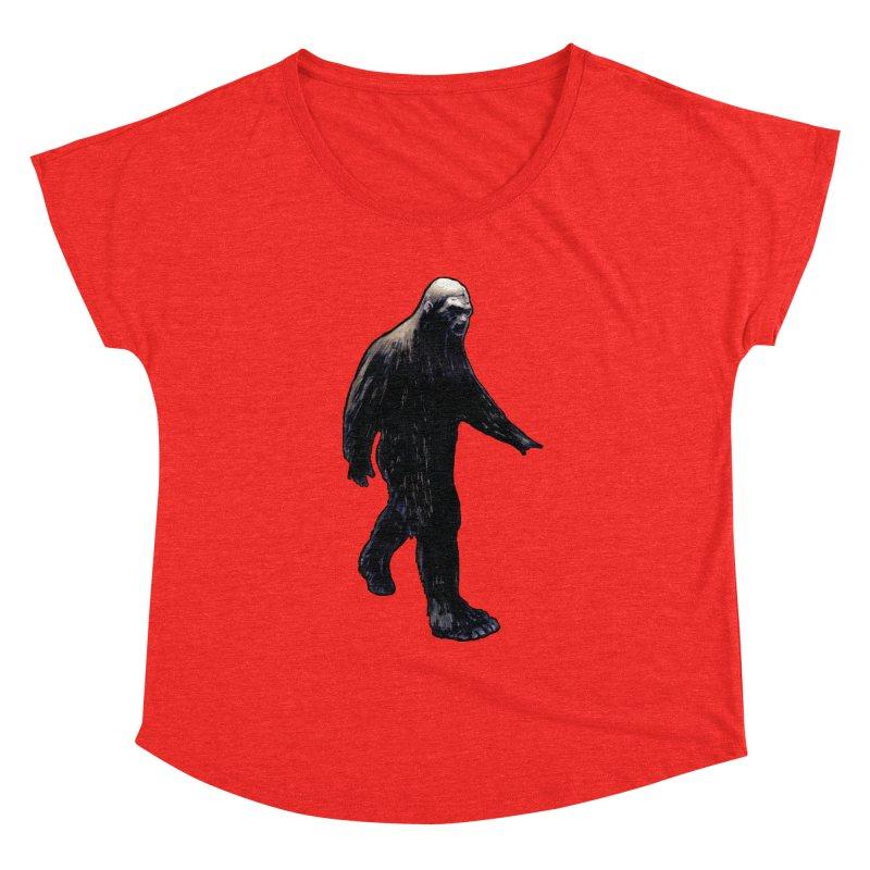Bigfoot Women's Scoop Neck by Zombie Rust's Artist Shop
