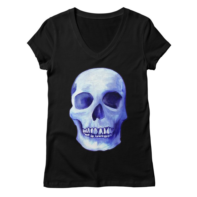 Bones IX Women's V-Neck by Zombie Rust's Artist Shop