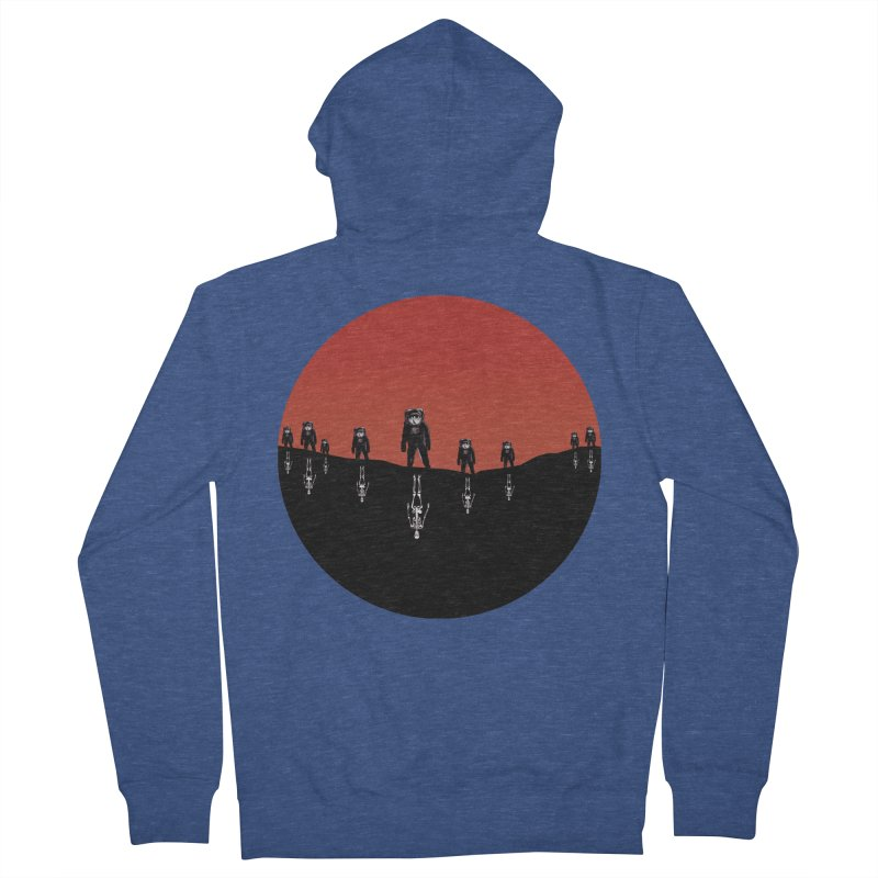 Something Strangely Familiar Men's French Terry Zip-Up Hoody by Zombie Rust's Artist Shop