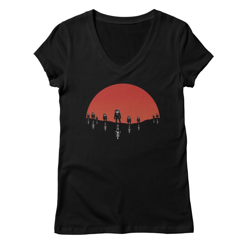 Something Strangely Familiar Women's V-Neck by Zombie Rust's Artist Shop
