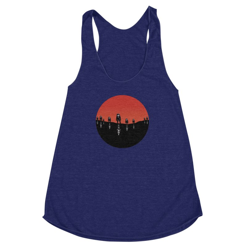 Something Strangely Familiar Women's Racerback Triblend Tank by Zombie Rust's Artist Shop